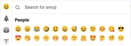 a list of emoji