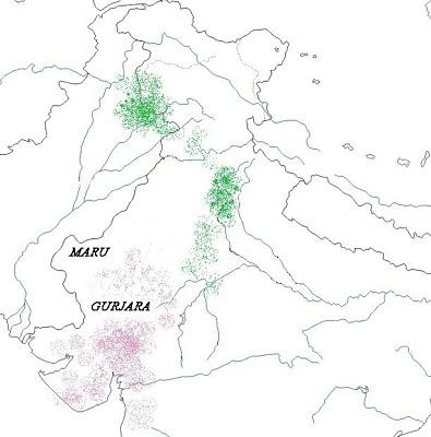 Gujjar_Gurjara_Brahman_map
