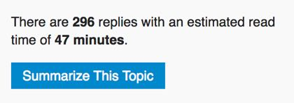 a summarize post button