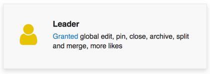 a badge granting a user more forum control